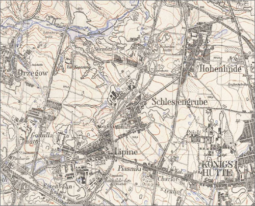 Mapa Chropaczowa i okolic