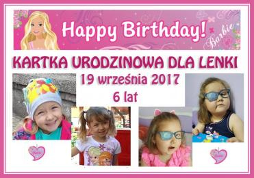 Chcesz podarować Lence odrobinę radości? Wyślij jej urodzinową kartkę!