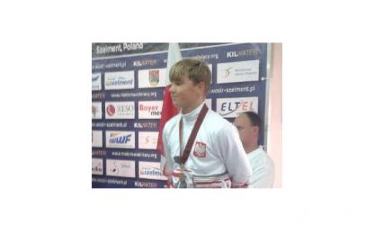 Mateusz Wycisk z medalem mistrzostw Europy