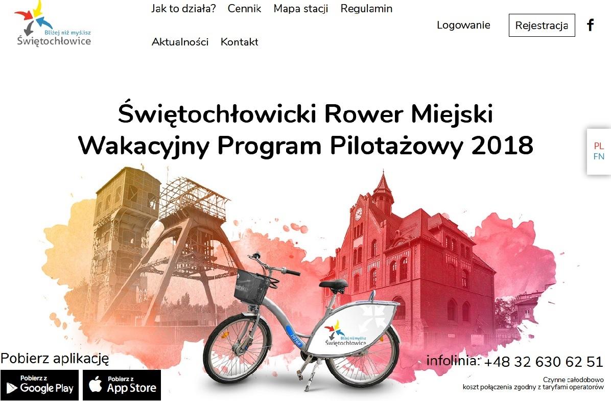 Ruszyła strona internetowa swietochlowickirower.pl