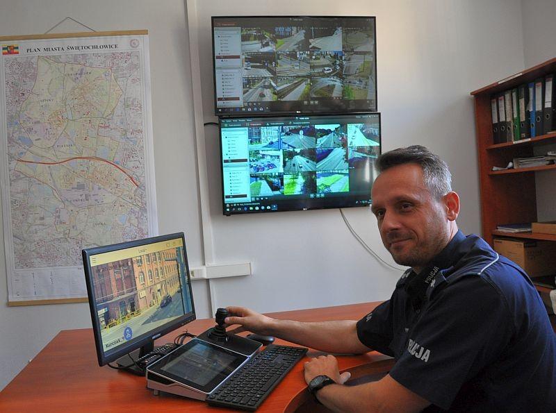 Komenda Miejska z nowym stanowiskiem monitoringu