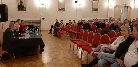 Spotkanie prezydenta Daniela Begera z mieszkańcami Lipin