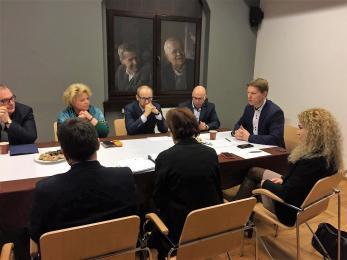 Spotkanie przedstawicieli GZM w Muzeum Powstań Śląskich