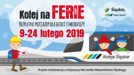 W czasie ferii dzieci i młodzież będą podróżować Kolejami Śląskimi za darmo!