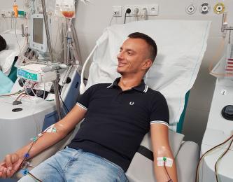 Łukasz Krążek ze Świętochłowic podarował swojemu bliźniakowi genetycznemu szansę na życie