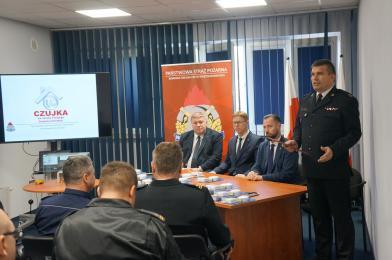 """Konferencja PSP """"Czujka na Straży Twojego Bezpieczeństwa"""""""