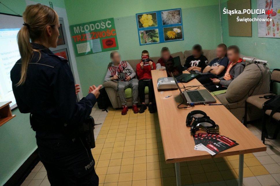 Narkotyki i dopalacze zabijają - Prelekcja z młodzieżą w Zespole Edukacji Wspomagającej
