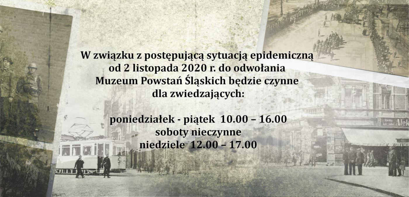 Zmiana godzin otwarcia Muzeum Powstań Śląskich