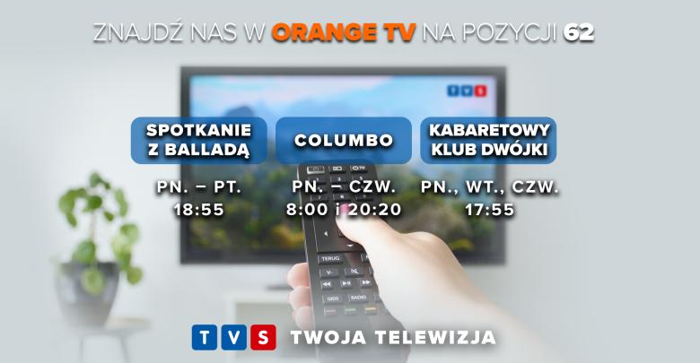 Telewizja TVS zmienia pozycję w Orange TV na kanał 62!