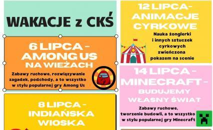 Wakacje z Centrum Kultury Śląskiej w Świętochłowicach