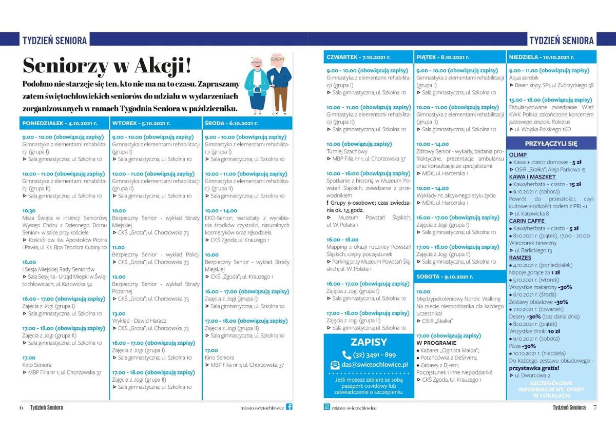 Tydzień Seniora - harmonogram aktywności