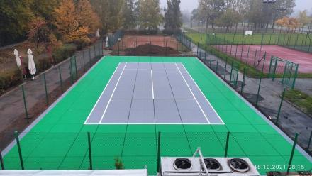 """Świętochłowice: Remont jednego z kortów tenisowych OSiR """"Skałka"""" zakończony. Dziś otwarcie"""
